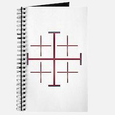 Red Jerusalem Cross Journal