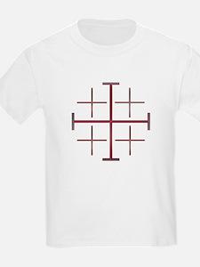 Red Jerusalem Cross Kids T-Shirt