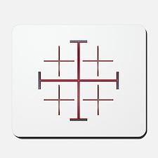 Red Jerusalem Cross Mousepad