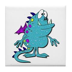 Soap Bubble Monster Tile Coaster