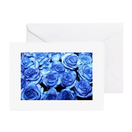 Blue Roses Greeting Cards (Pk of 10)