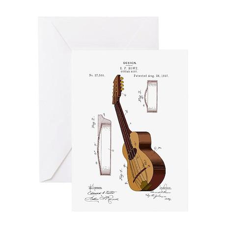 Guitar Patent Greeting Card