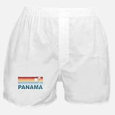 Retro Panama Palm Tree Boxer Shorts
