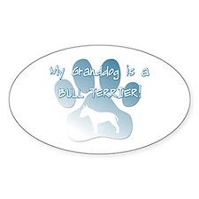 Bull Terrier Granddog Oval Decal