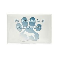 Bull Terrier Granddog Rectangle Magnet