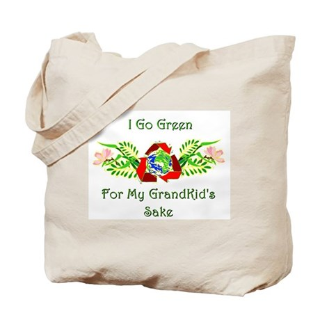 I go green... Tote Bag