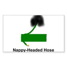 Nappy Headed Hose Rectangle Decal