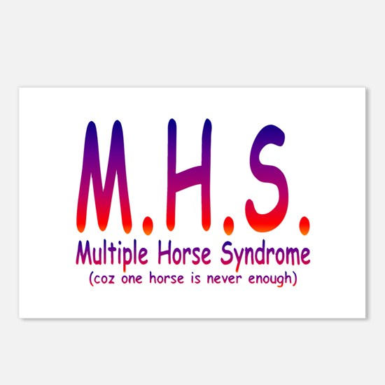 Multiple Horse Syndrome Postcards (Package of 8)