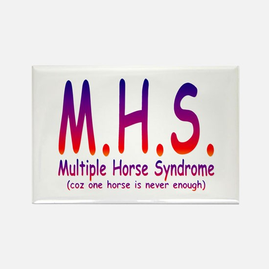 Multiple Horse Syndrome Rectangle Magnet