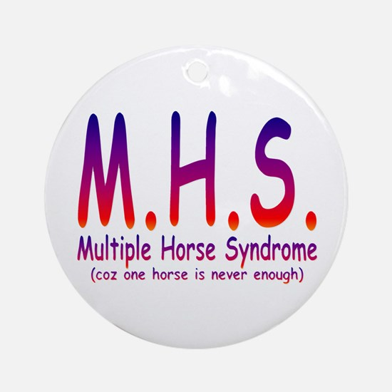 Multiple Horse Syndrome Ornament (Round)
