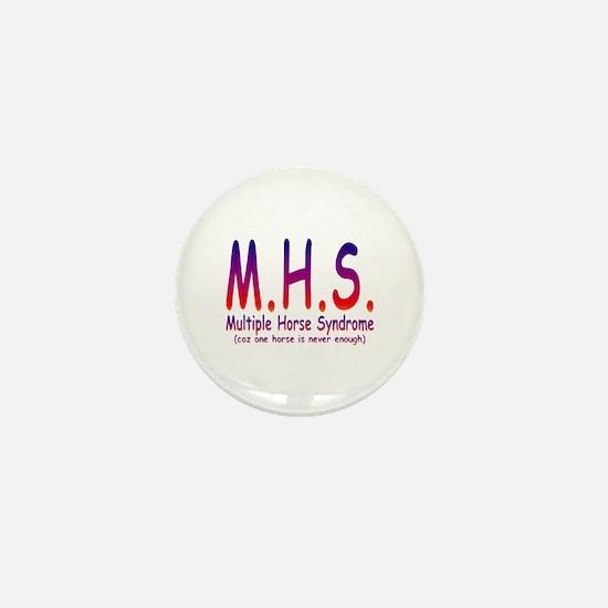 Multiple Horse Syndrome Mini Button