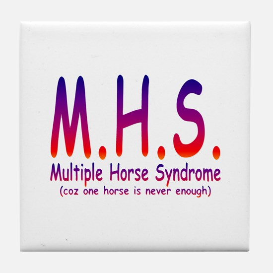 Multiple Horse Syndrome Tile Coaster