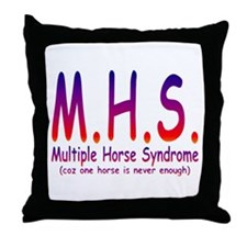 Multiple Horse Syndrome Throw Pillow
