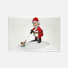 Golfing Santa Rectangle Magnet