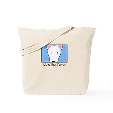 Anime White Bull Terrier Tote Bag