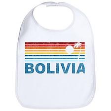 Retro Bolivia Palm Tree Bib