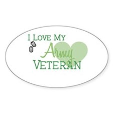 Army Veteran Oval Decal