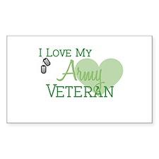 Army Veteran Rectangle Decal