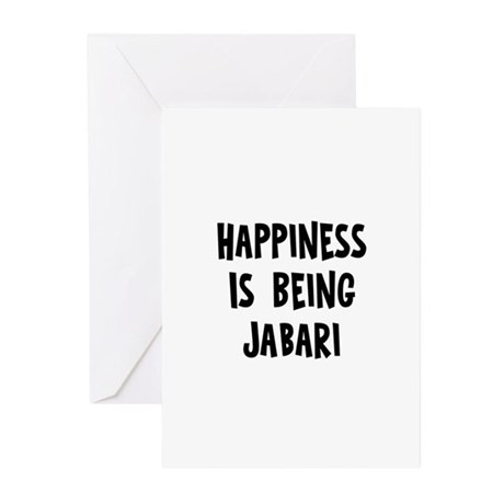 Happiness is being Jabari Greeting Cards (Pk of 10