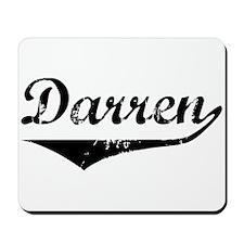 Darren Vintage (Black) Mousepad