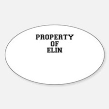 Property of ELIN Decal