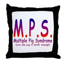 Multiple Pig Syndrome Throw Pillow
