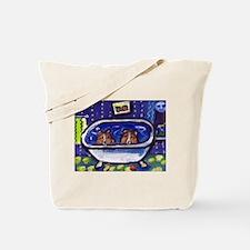 SHETLAND SHEEPDOG sheltie bat Tote Bag