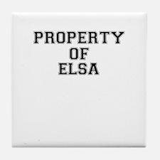 Property of ELSA Tile Coaster