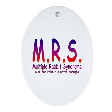Multiple Rabbit Syndrome Ornament (Oval)