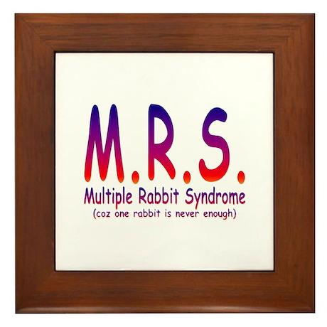 Multiple Rabbit Syndrome Framed Tile