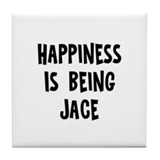 Happiness is being Jace Tile Coaster