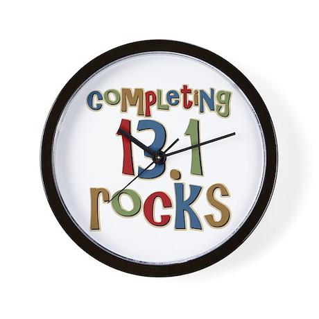 Completing 13.1 Rocks Marathon Wall Clock