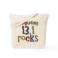 Completing 13.1 Rocks Marathon Tote Bag