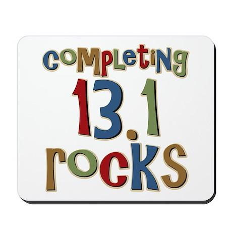 Completing 13.1 Rocks Marathon Mousepad