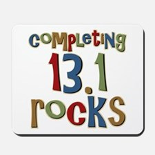 Completing 13.1 Rocks Marathon Mousepad