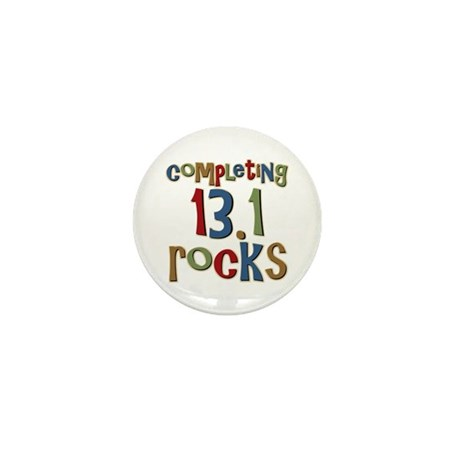 Completing 13.1 Rocks Marathon Mini Button
