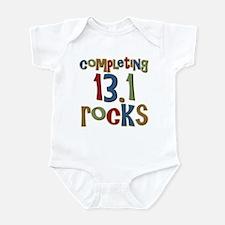 Completing 13.1 Rocks Marathon Infant Bodysuit