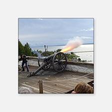 """Cannon Fire Square Sticker 3"""" x 3"""""""