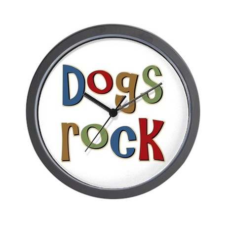 Dogs Rock Dog Lover Breeder Owner Wall Clock
