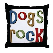 Dogs Rock Dog Lover Breeder Owner Throw Pillow