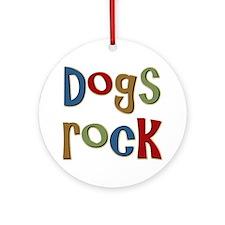 Dogs Rock Dog Lover Breeder Owner Ornament (Round)