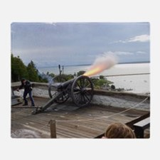 Cannon Fire Throw Blanket