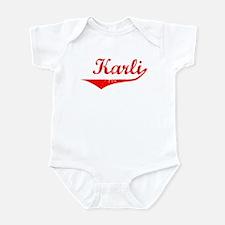 Karli Vintage (Red) Infant Bodysuit