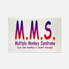 Multiple Monkey Syndrome Rectangle Magnet