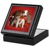 Jack russell terriers keepsake box Square Keepsake Boxes