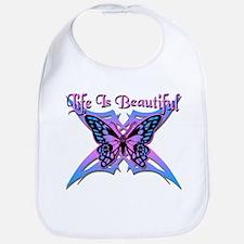 Life is Beautiful - Butterfly Bib