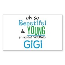 Beautiful and Young GiGi Rectangle Decal