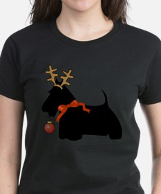 Scottie Dog Reindeer T-Shirt