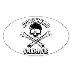 Bonehead Garage Oval Decal