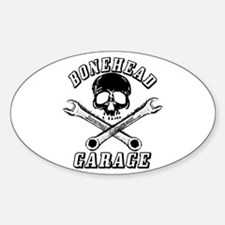 Bonehead Garage Oval Decal